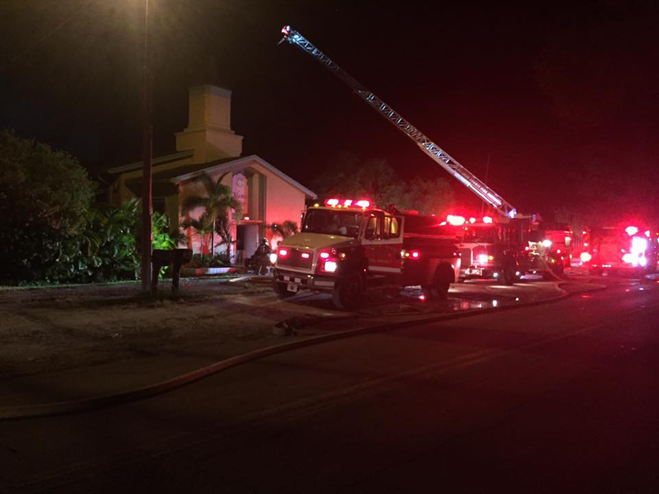 Facebook photo/St. Lucie County Sheriff's Office/Fort Pierce Islamic Center fire