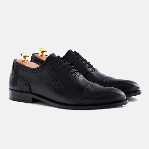 This pair of black brogues cost only $175 with the code DEALER15 (Photo courtesy of Beckett Simonon)