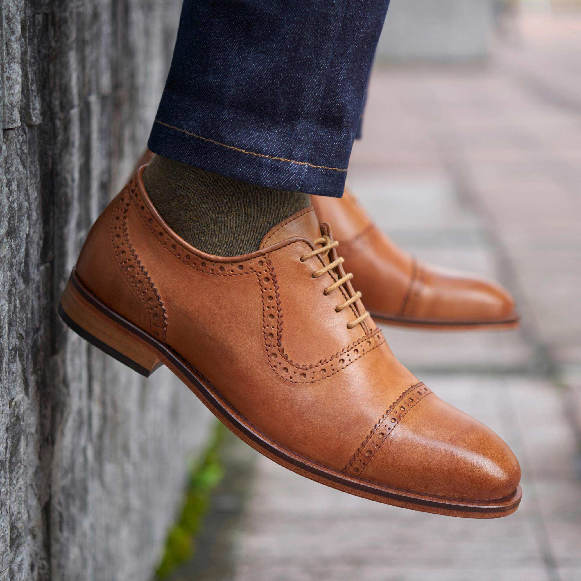 I might want these tan brogues a little too much (Photo courtesy of Beckett Simonon)