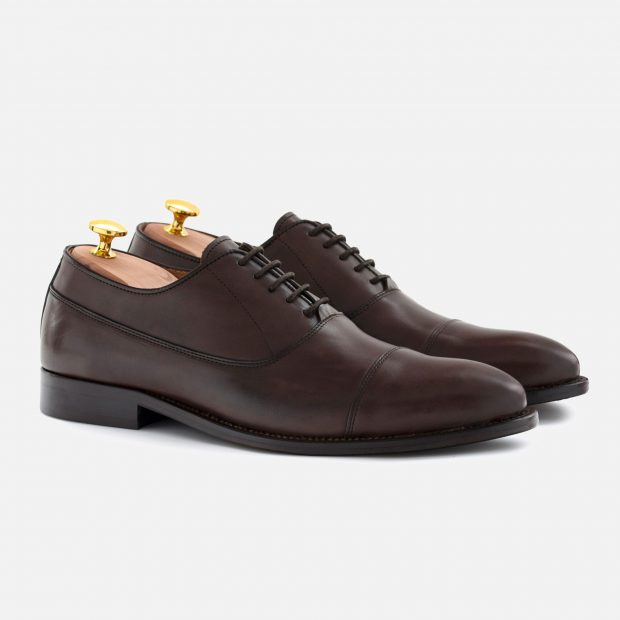 This pair of brown Oxfords cost only $175 with the code DEALER15 (Photo courtesy of Beckett Simonon)