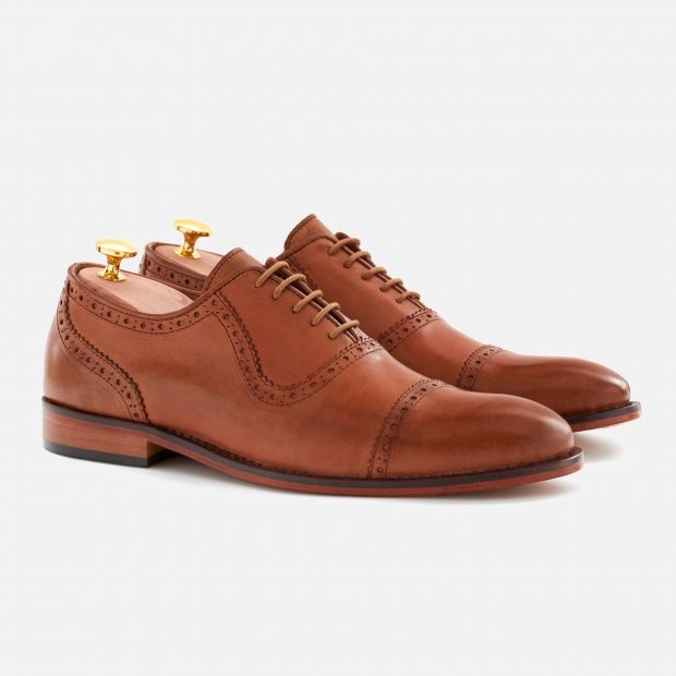 This pair of tan brogues cost only $175 with the code DEALER15 (Photo courtesy of Beckett Simonon)