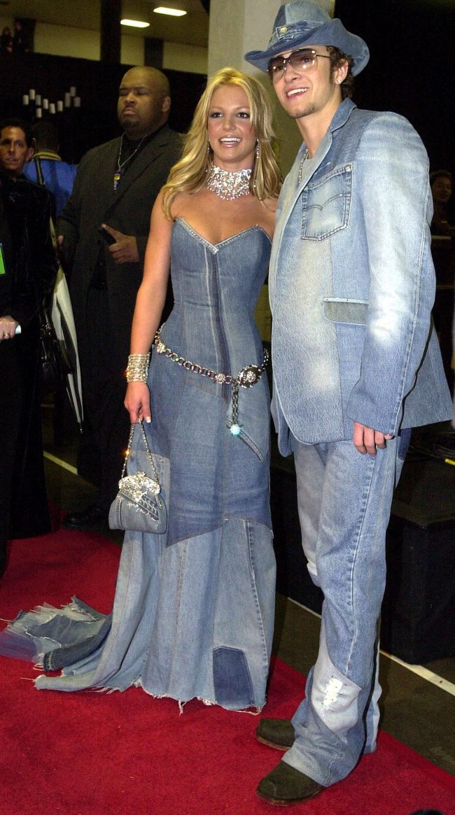 Pop star Britney Spears and her boyfriend, singer Justin Timberlake of the group NSYNC arrive backstage at the 28th Annual American Music Awards January 8, 2001 in Los Angeles