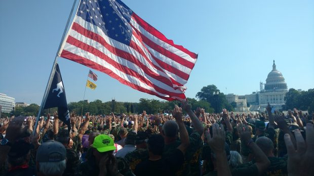Coal miners protest in D.C. (Steve Birr/TheDCNF)