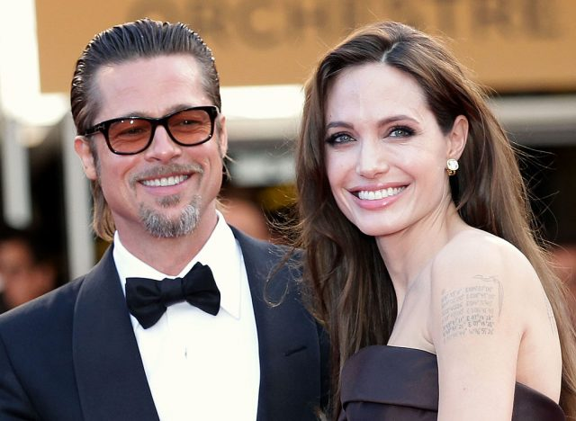 """Angelina Jolie and Brad Pitt attend """"The Tree Of Life"""" premiere during the 64th Annual Cannes Film Festival at Palais des Festivals on May 16, 2011 in Cannes, France"""
