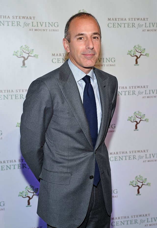Television broadcaster Matt Lauer attends the Fourth annual Martha Stewart Center for Living at Mount Sinai gala at the Martha Stewart Living Omnimedia Headquarters on November 16, 2011 in New York