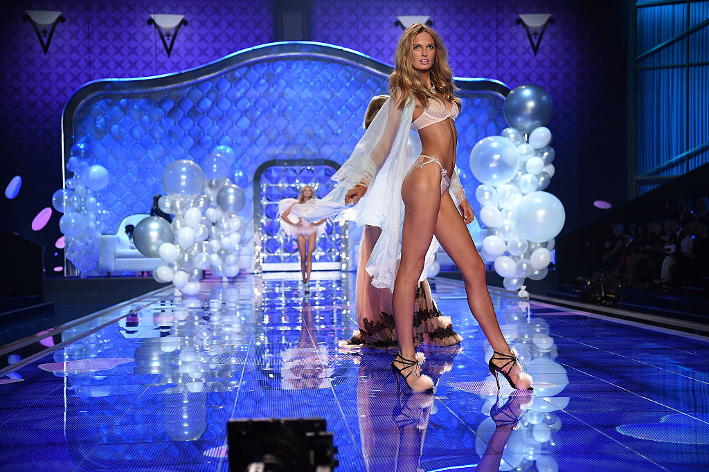 Romee on the runway at the 2014 Victoria's Secret Fashion Show. (Photo by Dimitrios Kambouris/Getty Images for Victoria's Secret)
