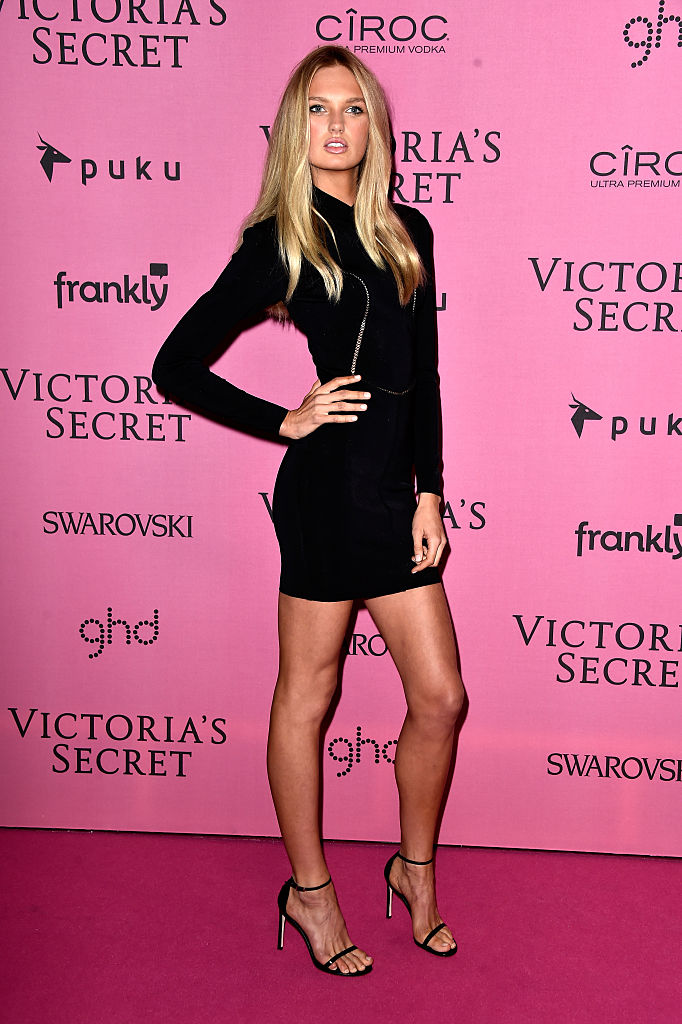 Romee on the pink carpet before the 2014 Victoria's Secret Fashion Show. (Photo by Pascal Le Segretain/Getty Images)