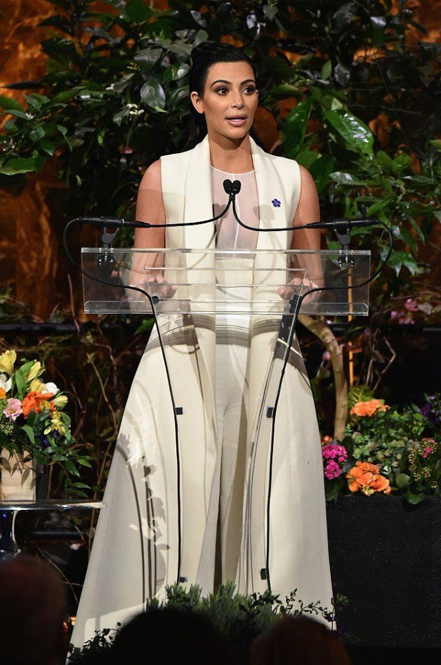 Kim Kardashian speaking