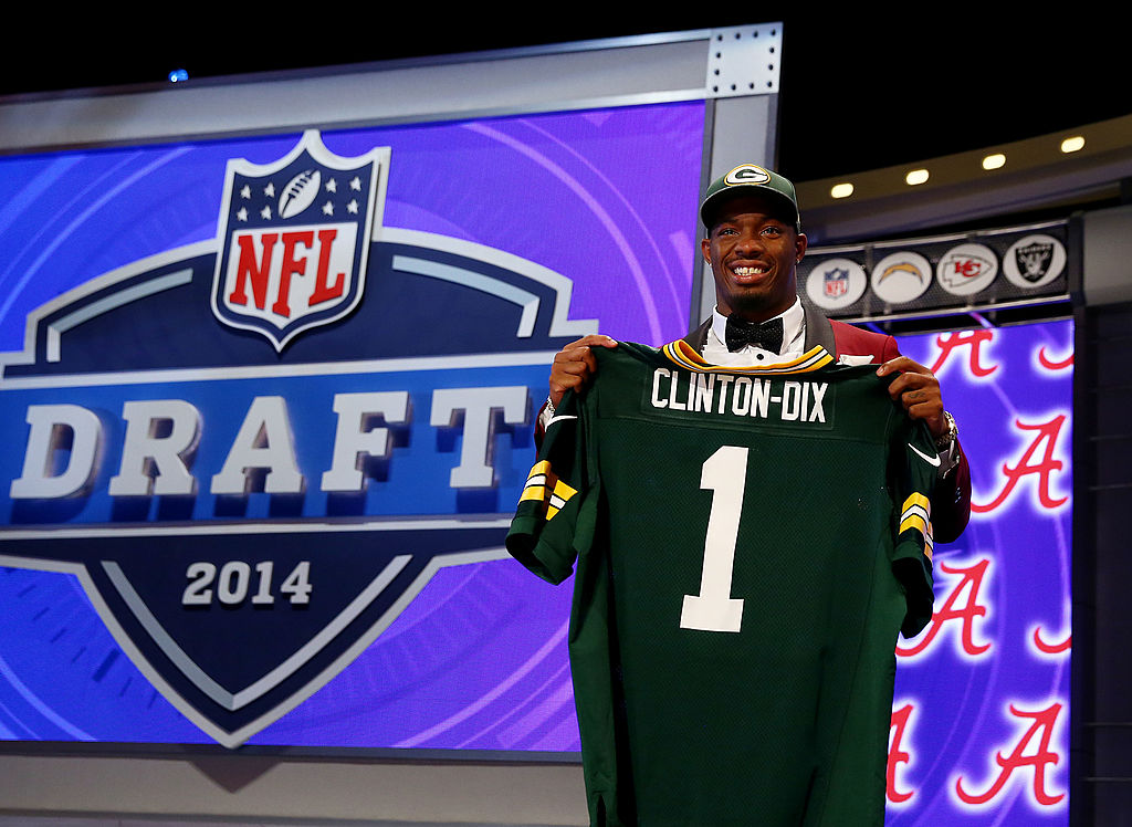 Ha Ha Clinton-Dix of the Alabama Crimson Tide selected #21 overall by the Green Bay Packers in the 2014 NFL Draft. (Photo by Elsa/Getty Images)