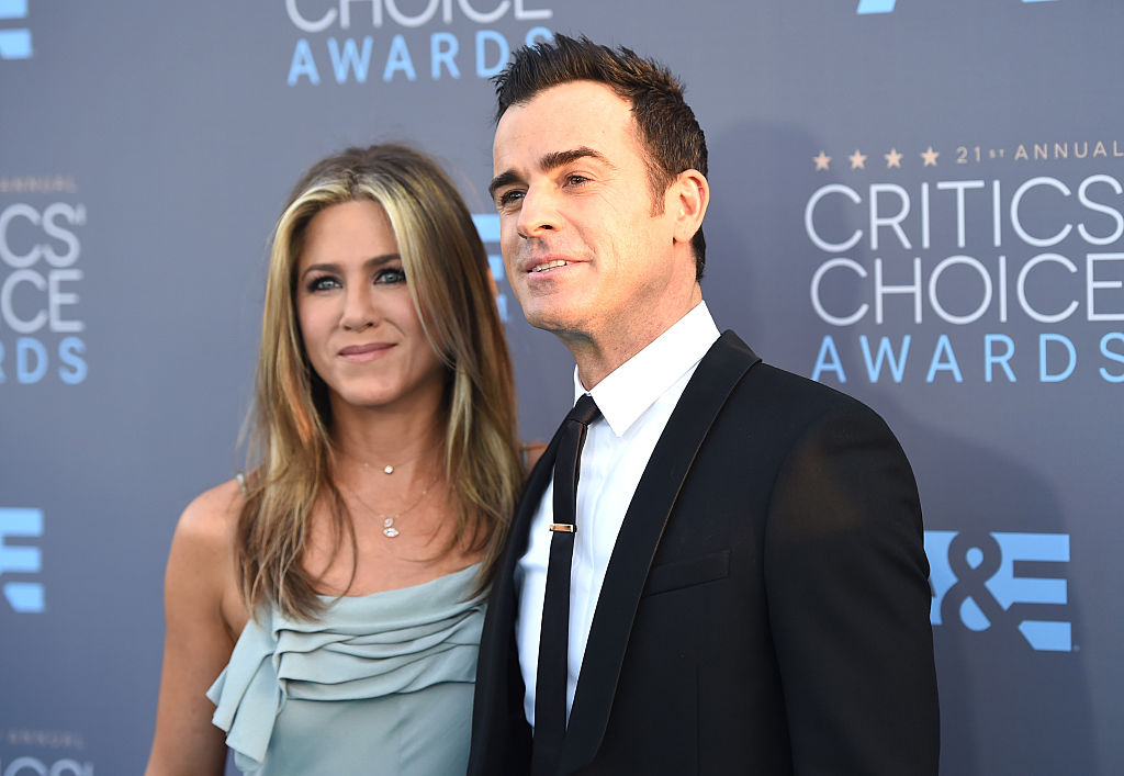 Aniston and Theroux at the Annual Critics' Choice Awards in Santa Monica, California. (Photo credit: Getty Images)