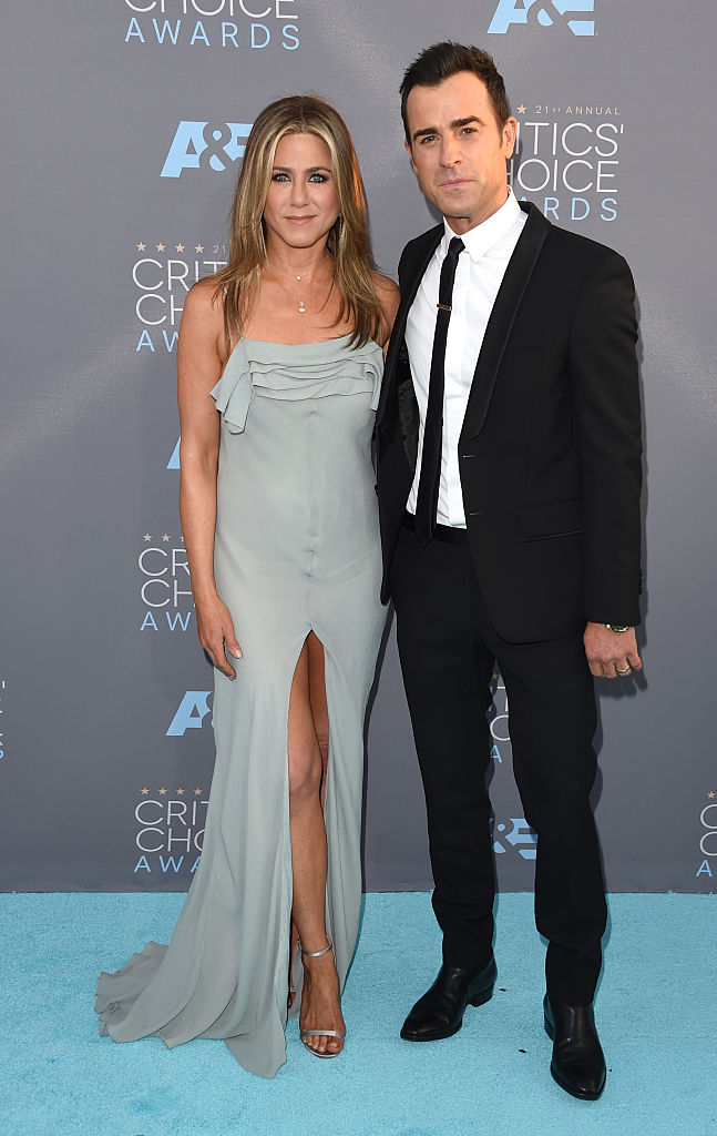 Aniston and Theroux married in 2015 (Photo credit: Getty Images)