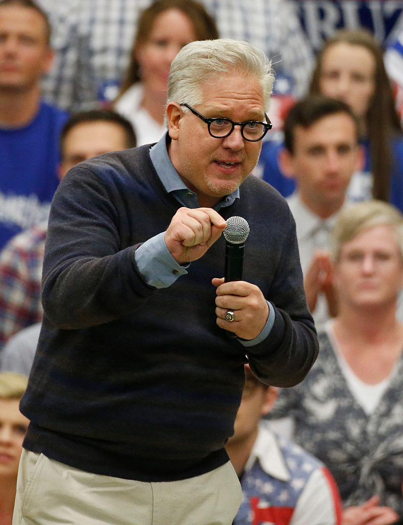 Glenn Beck speaks at republican presidential candidate Ted Cruz's campaign rally on March 19, 2016 in Provo, Utah (Getty Images)