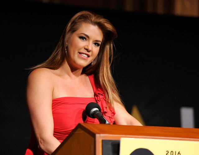 Actress Alicia Machado speaks onstage during the NALIP 2016 Latino Media Awards at Dolby Theatre on June 25, 2016 in Hollywood, California