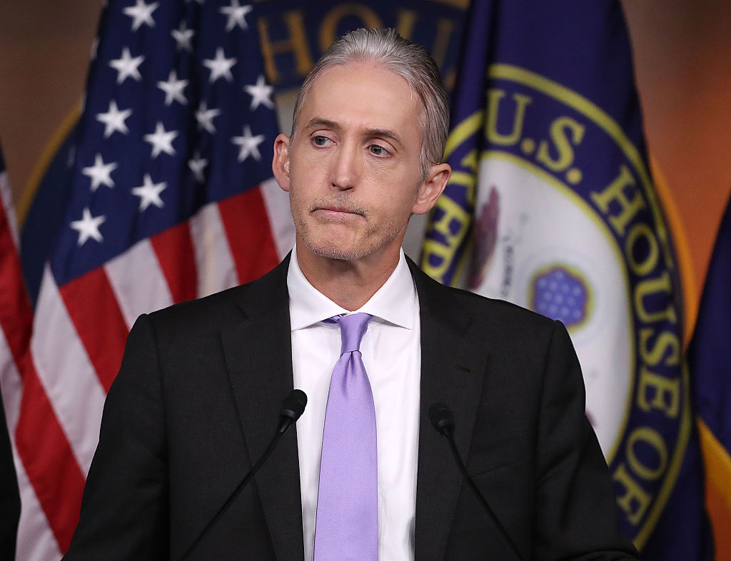 Trey Gowdy participates in a news conference with fellow Committee Republicans after the release of the Committee's Benghazi report on Capitol Hill on June 28, 2016 (Getty Images)