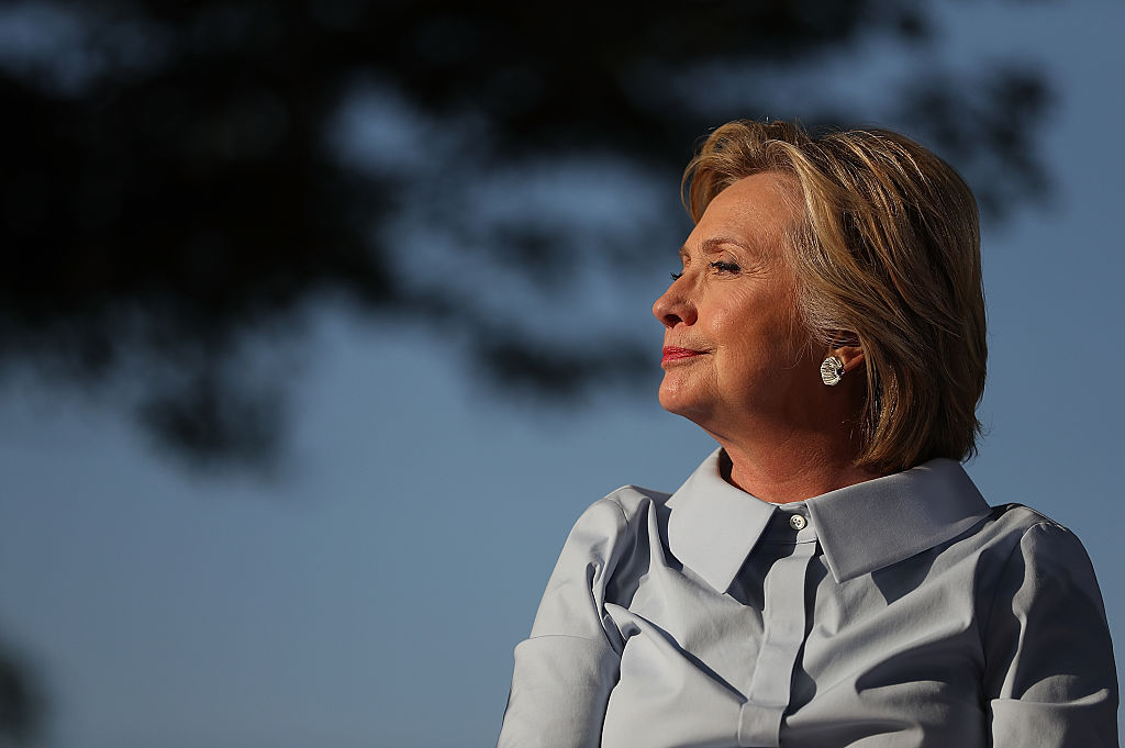 Hillary Clinton looks on at the 49th annual Salute to Labor on September 5, 2016 (Getty Images)