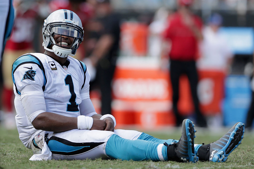 Cam has not participated in the national anthem protest. (Photo by Streeter Lecka/Getty Images)