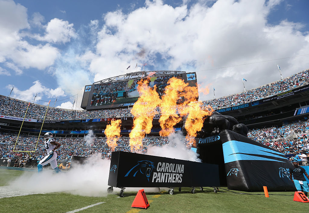 Panthers pregame ritual (Photo credit: Getty Images)