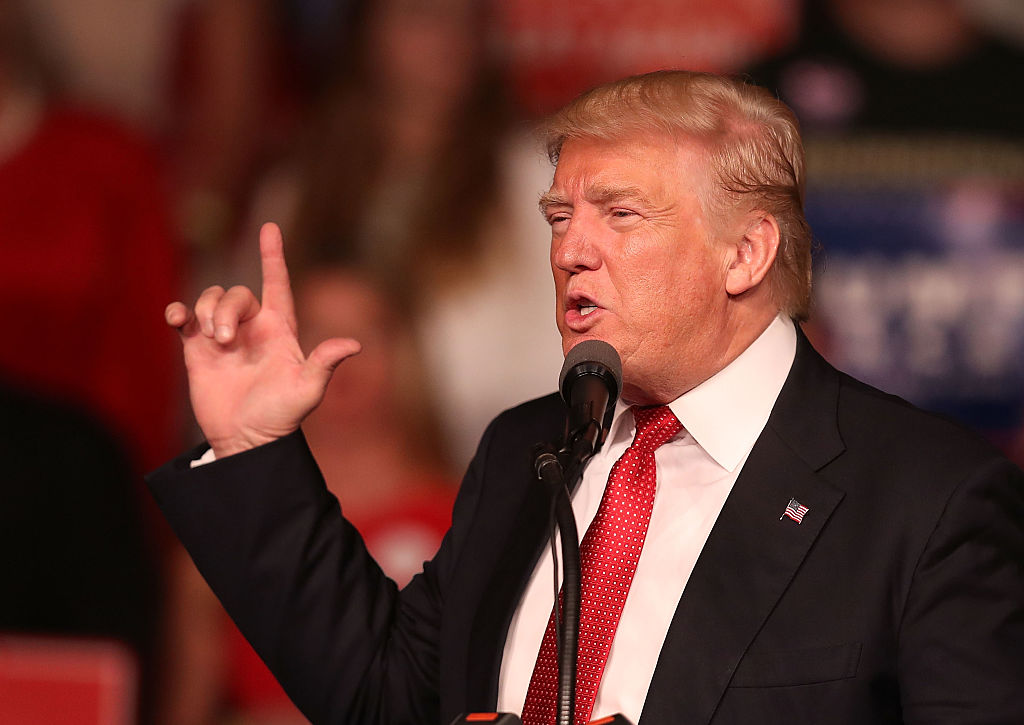 Donald Trump speaks during a campaign rally at the Germain Arena on September 19, 2016 (Getty Images)
