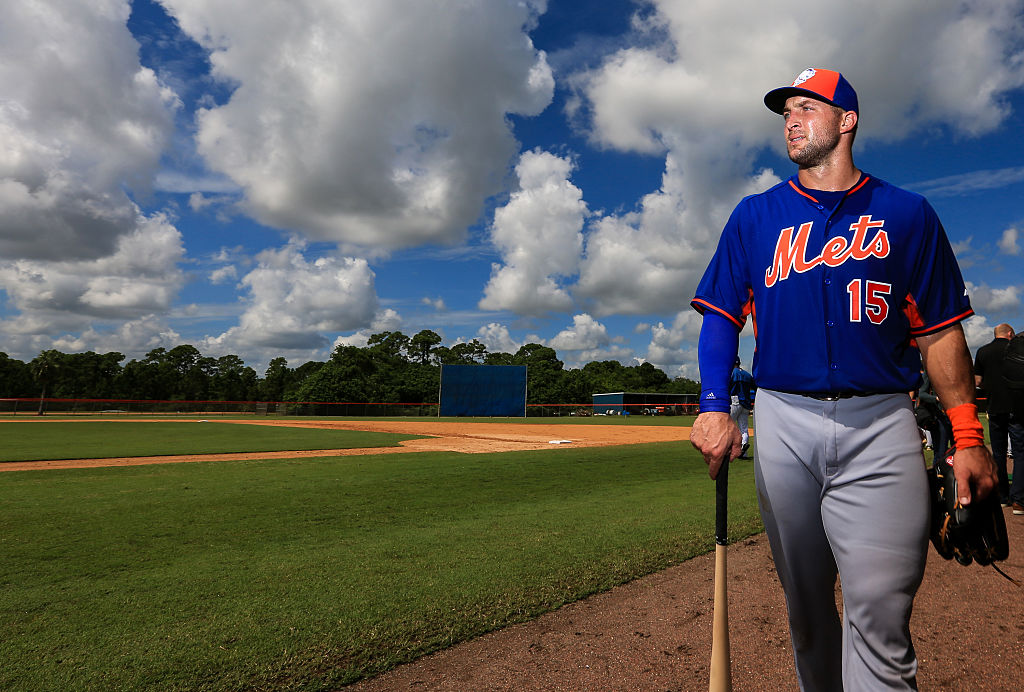 Tebow is in his first week with the New York Mets (Photo credit: Getty Images)