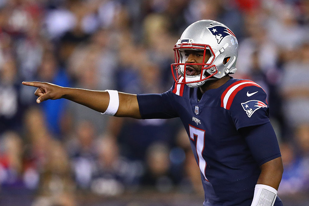 Third string QB Jacoby Brissett #7 of the New England Patriots got his first NFL start against the Texans. (Photo by Maddie Meyer/Getty Images)