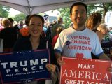 Dr. Zhang Wei at a pro-Trump event (courtesy of Dr. Zhang Wei)