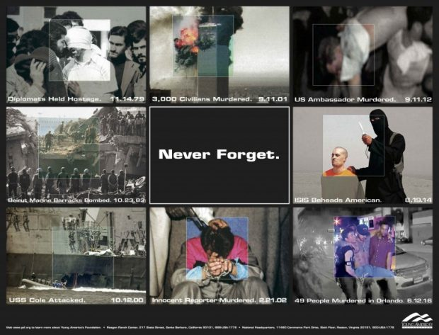 Never Forget Project poster [Young America's Foundation]