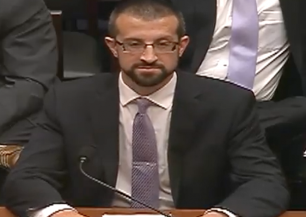Platte River Networks technician Paul Combetta appears at a House Oversight Committee hearing, Sept. 13, 2016. (Youtube screen grab)