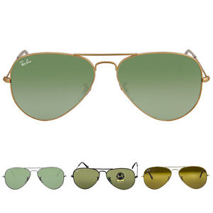These Aviators come in four style/color options: Gunmetal Frame/Green Lens, Gold Frame/Brown Lens, Gold Frame/Green Lens, and Black Frame/Green Lens (Photo via eBay)