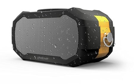 This photo demonstrates the water resistant nature of the speaker (Photo via Amazon)