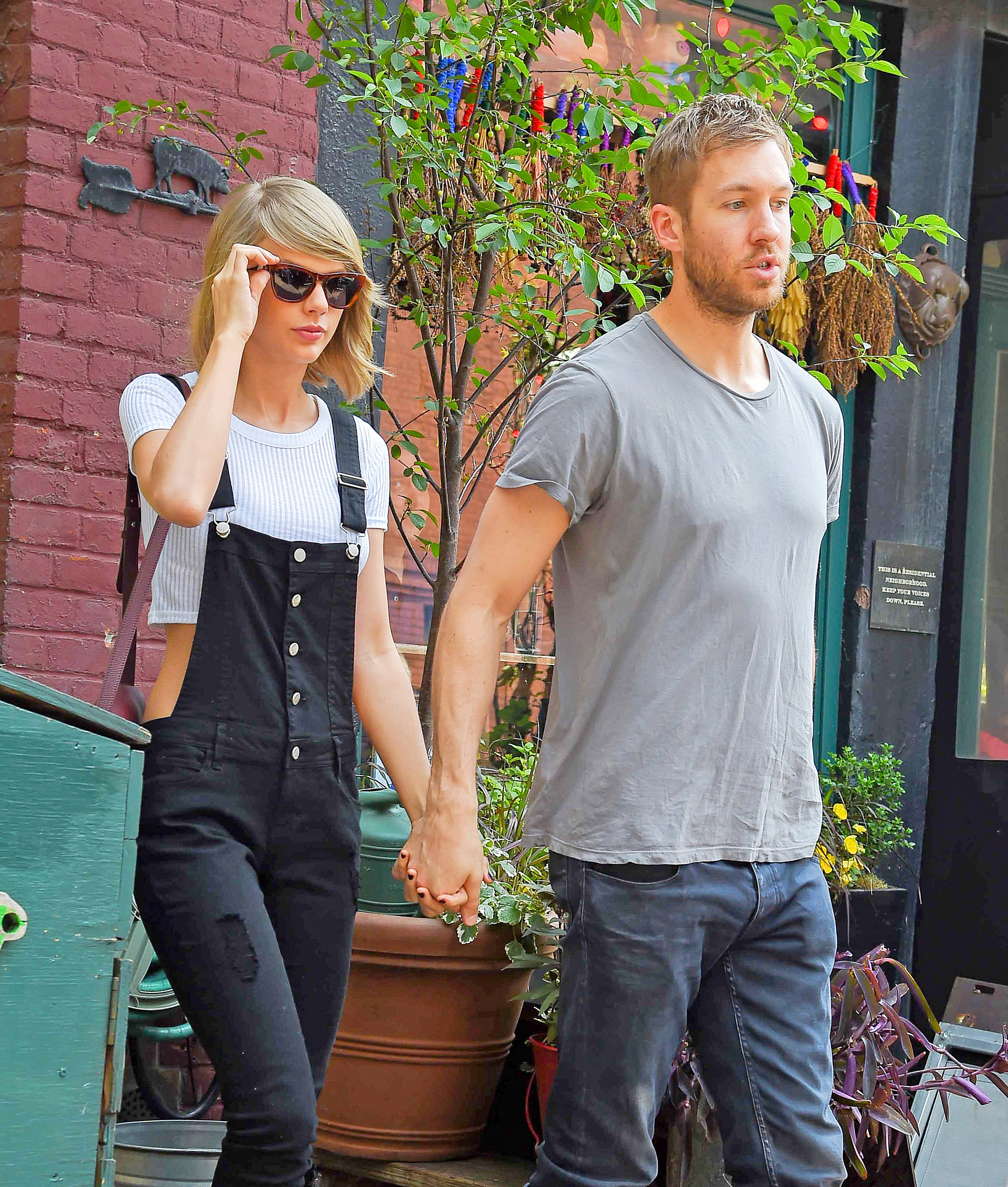 Calvin and T-Swift broke up at the start of the summer (Photo credit: Splash News)