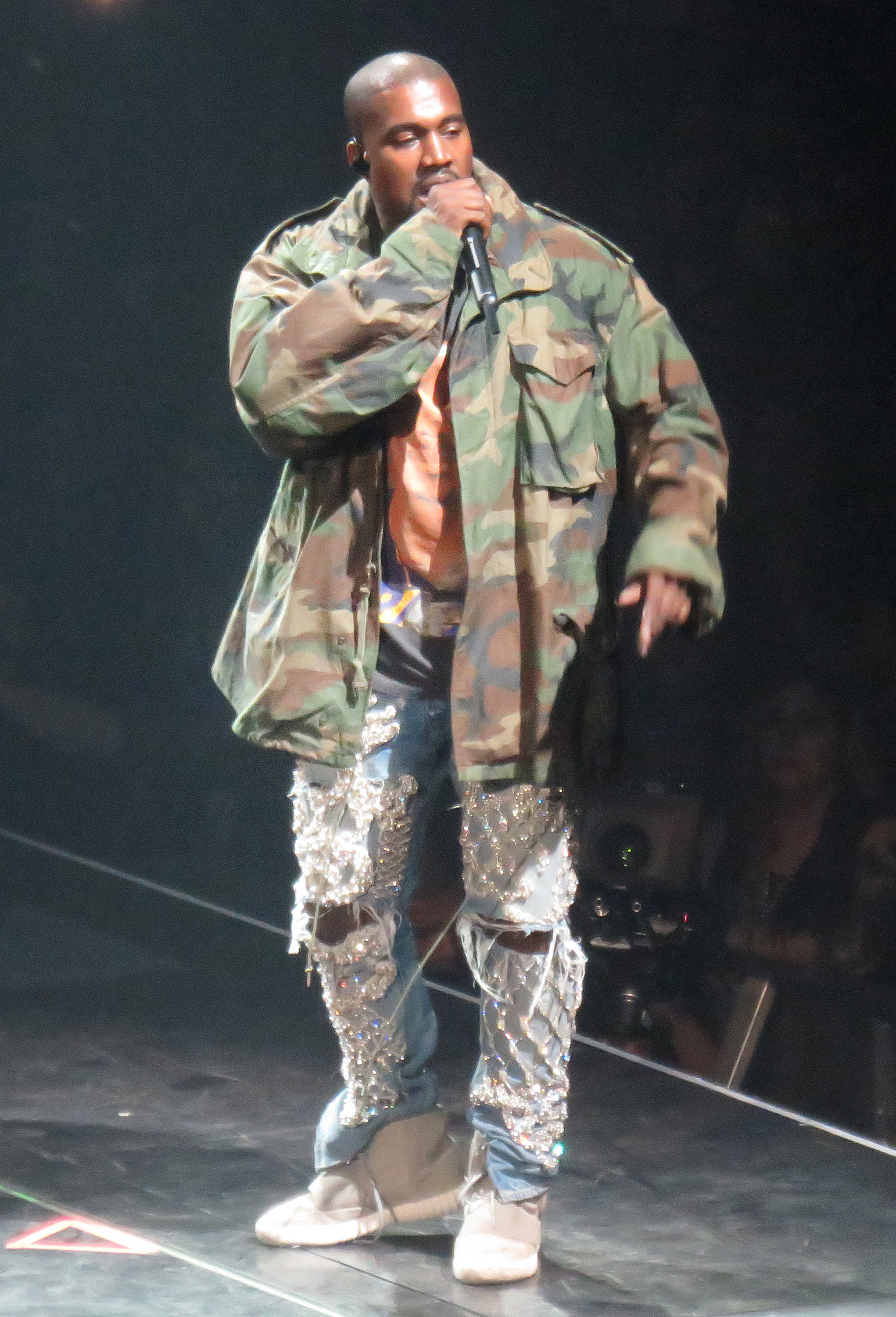 Kanye doesn't have time for Cudi's insults (Photo credit: Splash News)