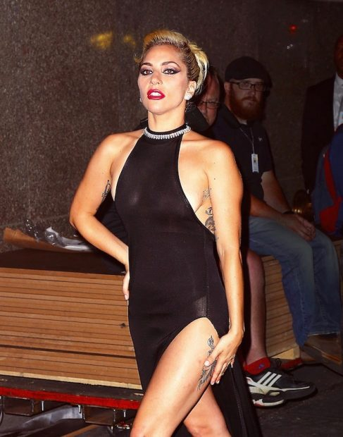 Lady Gaga showed lots of leg as she strutted her stuff after attending Tony Bennet's 90th birthday tribute at Radio City Music Hall in New York City. Pictured: Lady Gaga Ref: SPL1355507 170916 Picture by: Sharpshooter Images / Splash Splash News and Pictures Los Angeles: 310-821-2666 New York: 212-619-2666 London: 870-934-2666 photodesk@splashnews.com