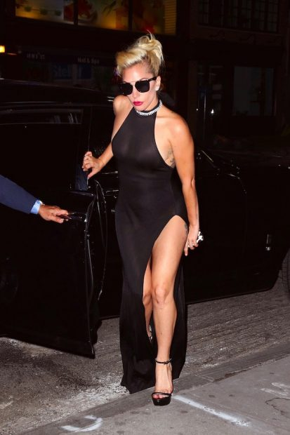 Lady Gaga showed lots of leg as she strutted her stuff after attending Tony Bennet's 90th birthday tribute at Radio City Music Hall in New York City. <P> Pictured: Lady Gaga <B>Ref: SPL1355507 170916 </B><BR /> Picture by: Sharpshooter Images / Splash <BR /> </P><P> <B>Splash News and Pictures</B><BR /> Los Angeles:310-821-2666<BR /> New York: 212-619-2666<BR /> London: 870-934-2666<BR /> photodesk@splashnews.com<BR /> </P>