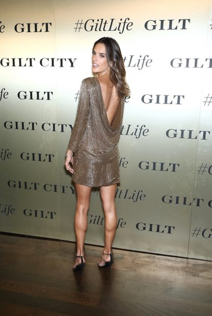 Celebrities attends the #GiltLife Launch Party, held at 4 Centre Market Place in New York City, NY. <P> Pictured: Alessandra Ambrosio <B>Ref: SPL1363966 270916 </B><BR /> Picture by: Photo Image Press/Splash<BR /> </P><P> <B>Splash News and Pictures</B><BR /> Los Angeles:310-821-2666<BR /> New York: 212-619-2666<BR /> London: 870-934-2666<BR /> photodesk@splashnews.com<BR /> </P>