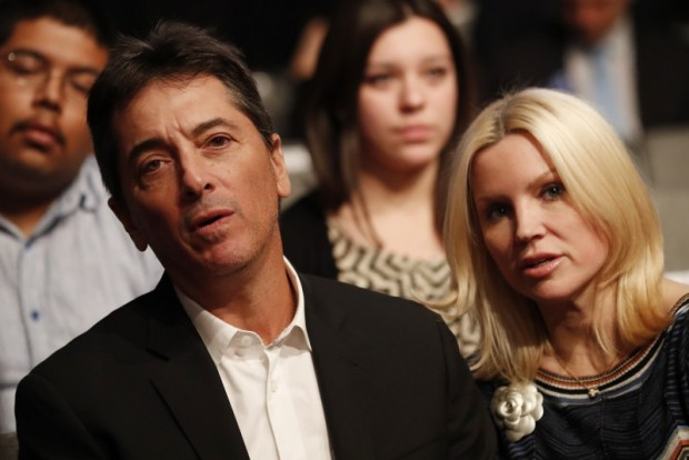 Actor Scott Baio and his wife Renee Sloan. REUTERS/Mike Blake