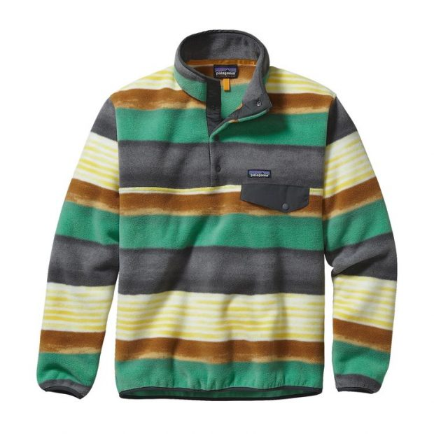Normally $99, this fleece snap pullover is on sale for $49. It comes in 14 patterns (Photo via Patagonia)