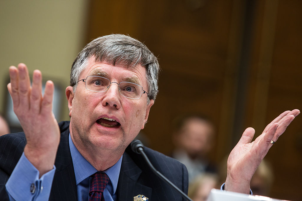 Under Secretary for Management Patrick Kennedy testifies on Capitol Hill on October 10, 2012 (Getty Images)