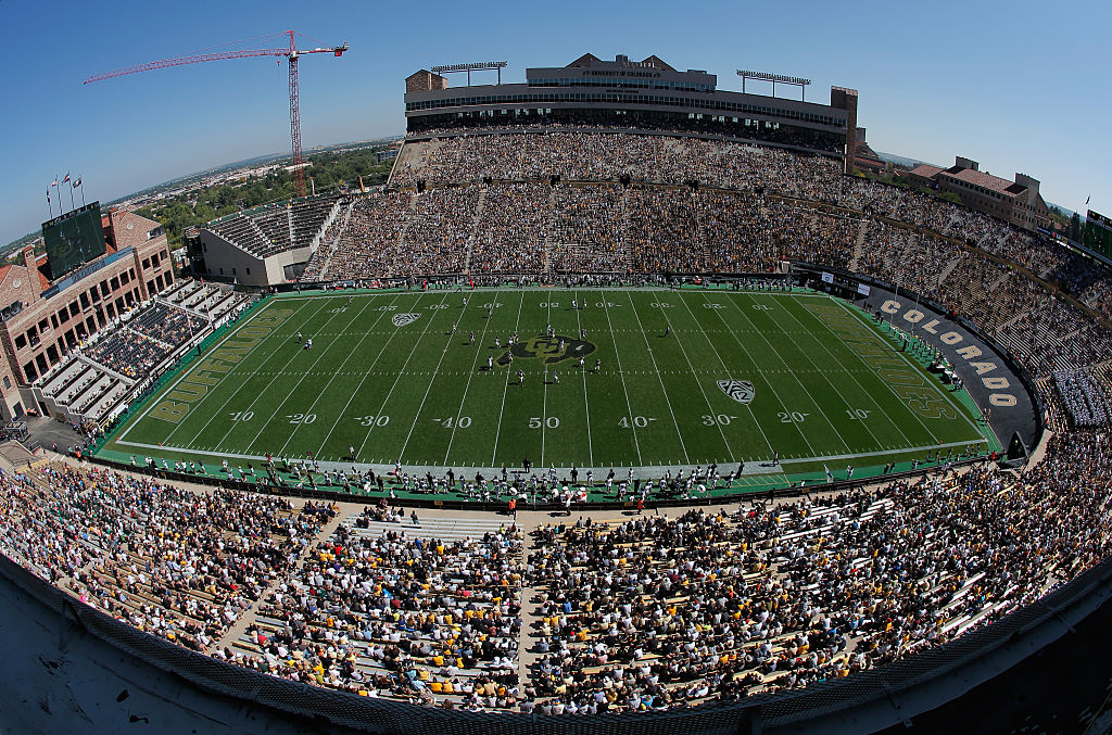 The Buffaloes play Hawaii in Boulder, Colorado. (Photo by Doug Pensinger/Getty Images)