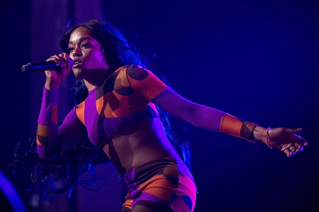 Azealia Banks performs for fans during Splendour in the Grass on July 25, 2015 in Byron Bay, Australia. (Photo by Cassandra Hannagan/Getty Images)
