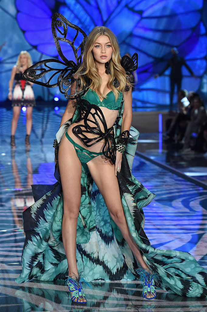 The 2015 Victoria's Secret Fashion Show was Gigi's first. It likely won't be her last. (Photo credit: Getty Images)