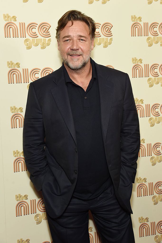 "Russell Crowe at the ""The Nice Guys"" New York Screening at Metrograph (Photo credit: Getty Images)"