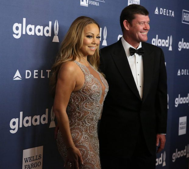 NEW YORK, NY - MAY 14: Mariah Carey and James Packer arrive for the 27th Annual GLAAD Media Awards at The Waldorf=Astoria on May 14, 2016 in New York City. (Photo by Rob Kim/Getty Images)