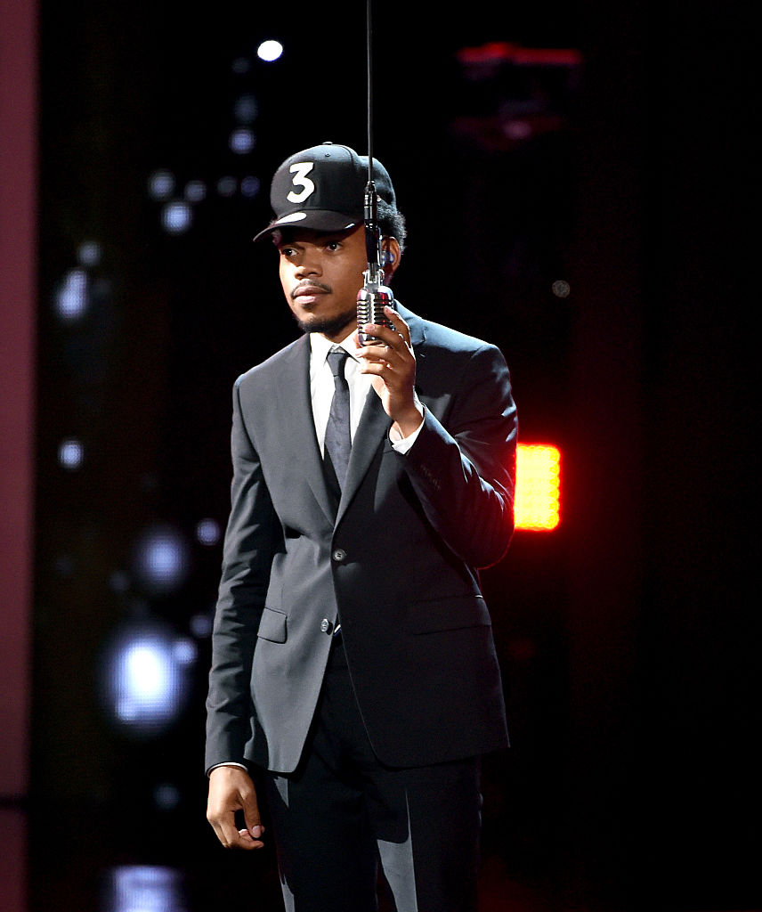 Chance The Rapper onstage at the ESPY Awards (Photo credit: Getty Images)