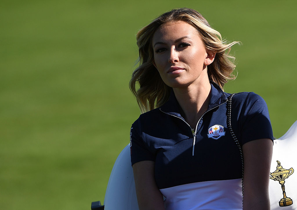 Paulina Gretzky at the 2016 Ryder Cup at Hazeltine National Golf Club on October 2, 2016 in Chaska, Minnesota. (Photo credit: Getty Images)