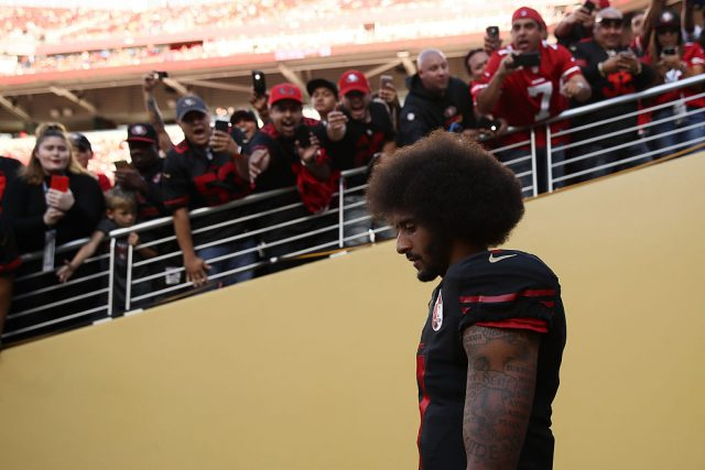 Fans chanted for Kaepernick during the game. (Photo by Ezra Shaw/Getty Images)