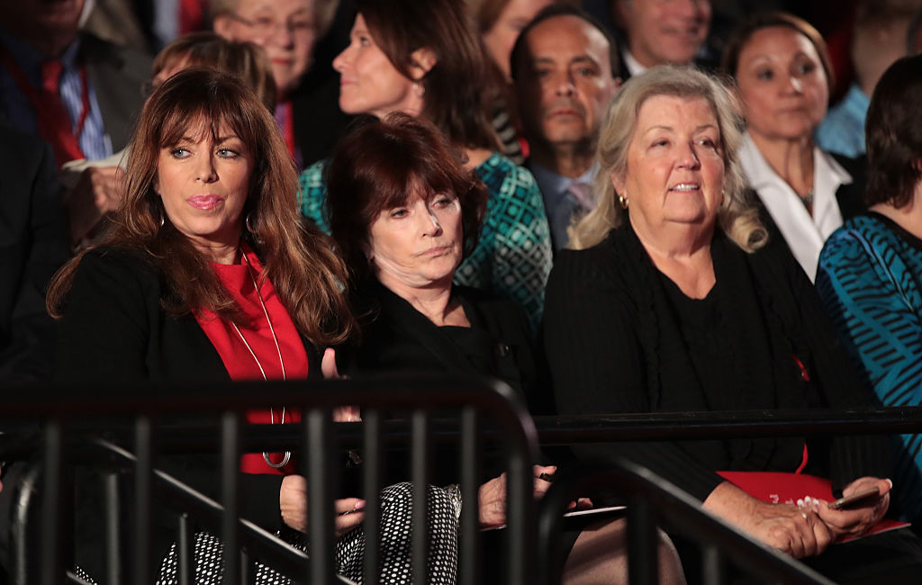 Paula Jones at the second presidential debate in St. Louis (Getty Images)