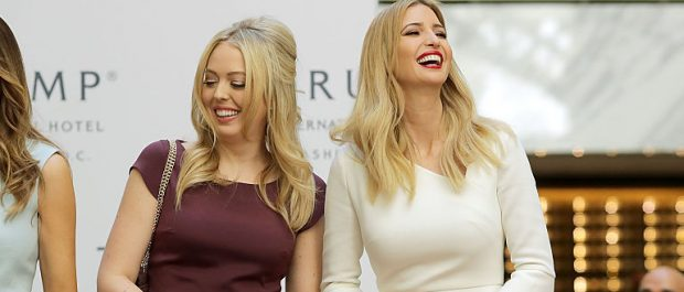 WASHINGTON, DC - OCTOBER 26: (L-R) Melania Trump, wife of Republican presidential nominee Donald Trump, and his daughters Tiffany Trump and Ivanka Trump cut the ribbon at the new Trump International Hotel October 26, 2016 in Washington, DC. The hotel, built inside the historic Old Post Office, has 263 luxry rooms, including the 6,300-square-foot 'Trump Townhouse' at $100,000 a night, with a five-night minimum. The Trump Organization was granted a 60-year lease to the historic building by the federal government before the billionaire New York real estate mogul announced his intent to run for president. (Photo by Chip Somodevilla/Getty Images)