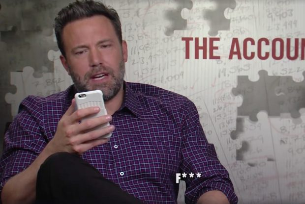 Ben Affleck (Credit: Screenshot/Facebook video Sports Illustrated Extra Mustard)