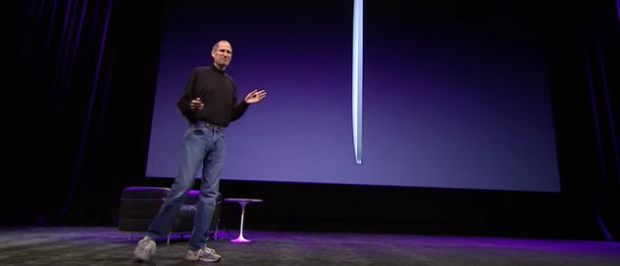 Steve Jobs wore New Balance (YouTube Screenshot)