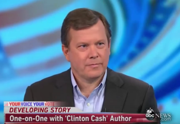 """Clinton Cash"" author Peter Schweizer on ABC's ""This Week,"" April 26, 2015. (Youtube screen grab)"